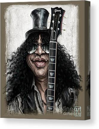 Rock Slash Music Canvas Prints
