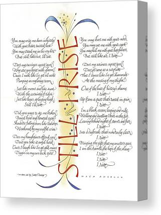 Calligraphy Canvas Prints