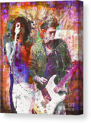 The Rolling Stones Keith Richards Canvas Prints