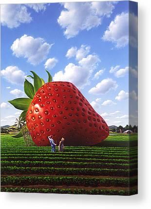 Strawberry Canvas Prints