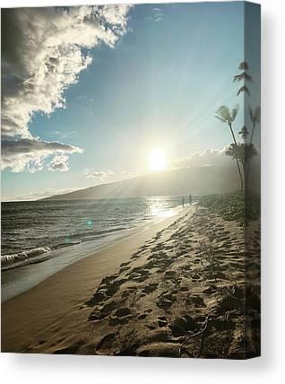 Beach Sunset Canvas Prints
