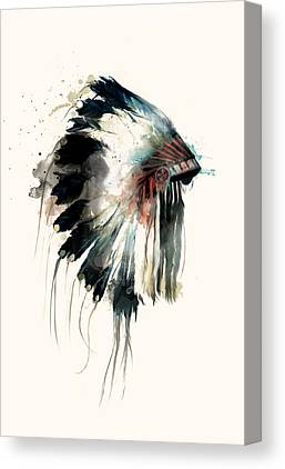 Indian Ink Canvas Prints