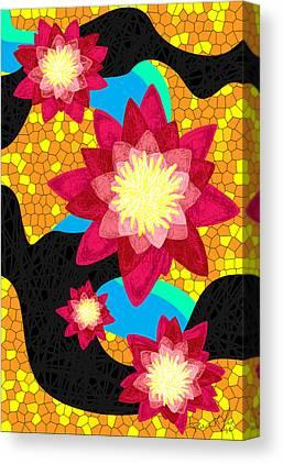Lotus Flower Bombs Canvas Prints