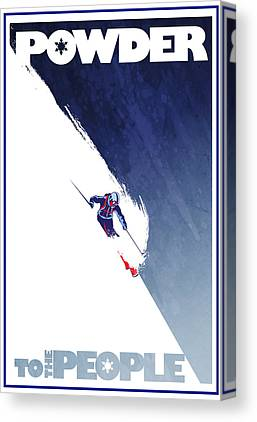 Skiing Canvas Prints