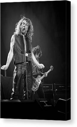 Robert Plant Performance Art Canvas Prints