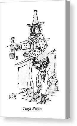 Hombre Drawings Canvas Prints