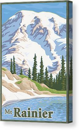 Mount Rainier Canvas Prints