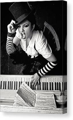 Pianist Photographs Canvas Prints