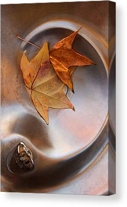 Abstract Water And Fall Leaves Canvas Prints