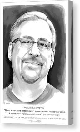 Pastor Canvas Prints