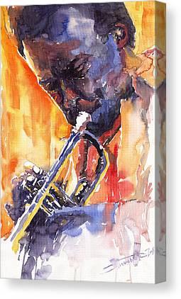Milaes Davis Canvas Prints