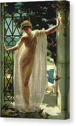 Lesbia By Weguelin Paintings Canvas Prints