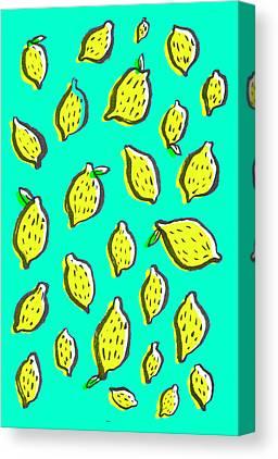Lemons Drawings Canvas Prints