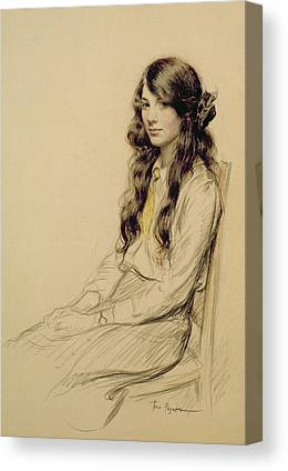 Portrait Of Woman Drawings Canvas Prints