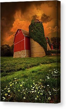 Red Barn Canvas Prints