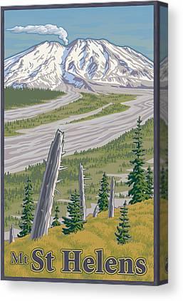 Mount St. Helens Canvas Prints