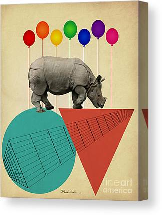 Rhinos Canvas Prints