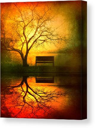 Reflecting Trees Canvas Prints