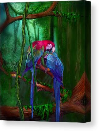 Blue And Gold Macaw Canvas Prints