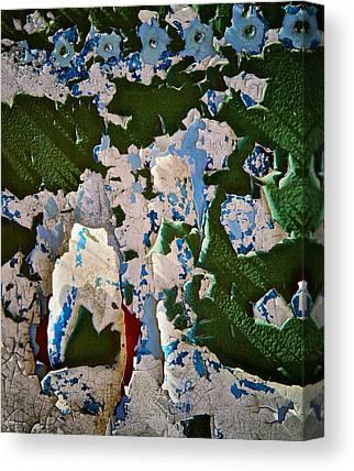 Paint Flakes Canvas Prints