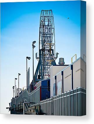 Casino Pier Mixed Media Canvas Prints