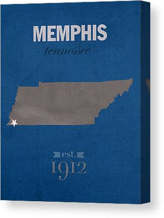 University Of Memphis Canvas Prints
