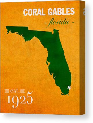 University Of Miami Canvas Prints