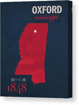 University Of Mississippi Ole Miss Canvas Prints