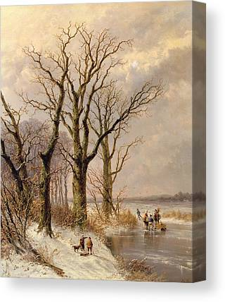 Snow Bank Canvas Prints