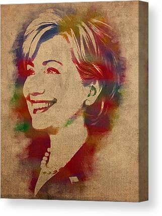 Hillary Clinton Canvas Prints