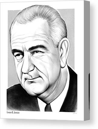 Lyndon Johnson Canvas Prints