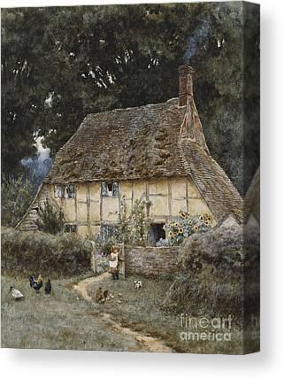 English Cottage Garden Canvas Prints