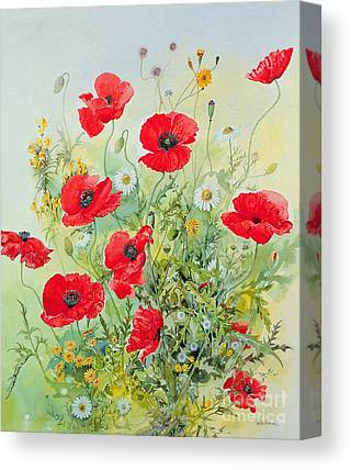 Bright Flowers Canvas Prints