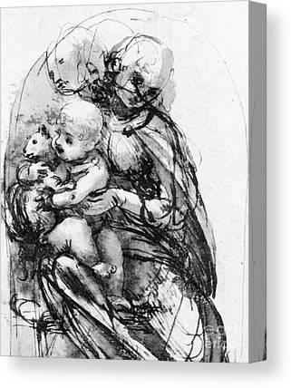 Child Jesus Drawings Canvas Prints
