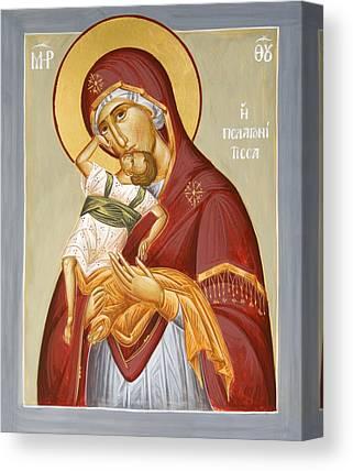 Theotokos Pelagonitisa Canvas Prints