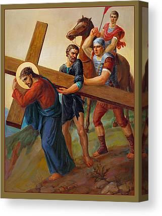 Via Crucis Canvas Prints