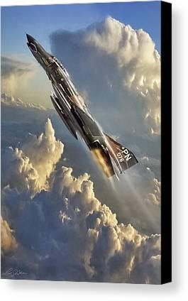 Jet Canvas Prints