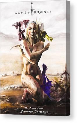 Daenerys Targaryen Canvas Prints