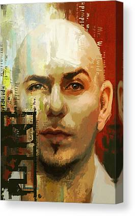Pitbull Singer Canvas Prints