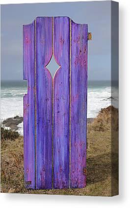 Purple Gateway To The Sea Canvas Prints