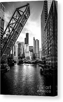 Chicago Black White Canvas Prints
