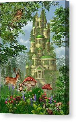 Fungi Digital Art Canvas Prints
