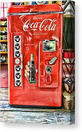Coke A Cola Canvas Prints