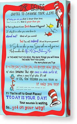Cat In The Hat Canvas Prints