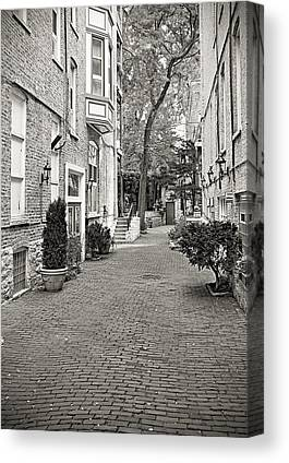 Buildings And Narrow Lanes Canvas Prints