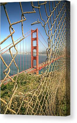 Chain Link Fence Canvas Prints