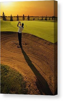 Golfer Canvas Prints