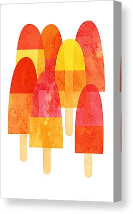 A Hot Summer Day Mixed Media Canvas Prints