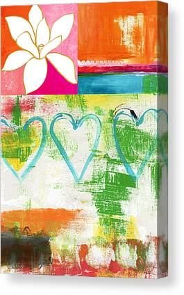 Greens Golds And Pinks Canvas Prints