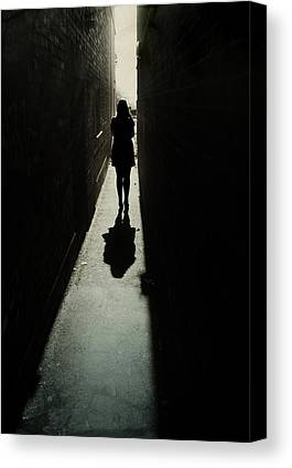 Shadowy Figure Canvas Prints